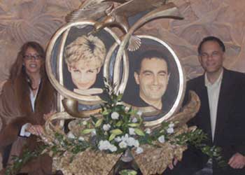 At the Princess Diana and Dodi Al Fayed Memorial at Harrods (Dec 2007)