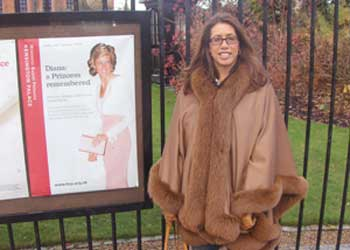 At Kensington Palace, the day before giving testimony (Dec 2007)